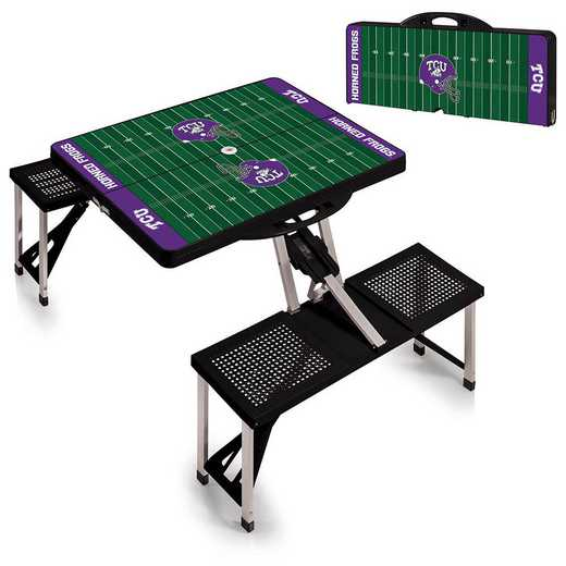 811-00-175-845-0: TCU Horned Frogs - Portable Picnic Table w/SFD (Black)