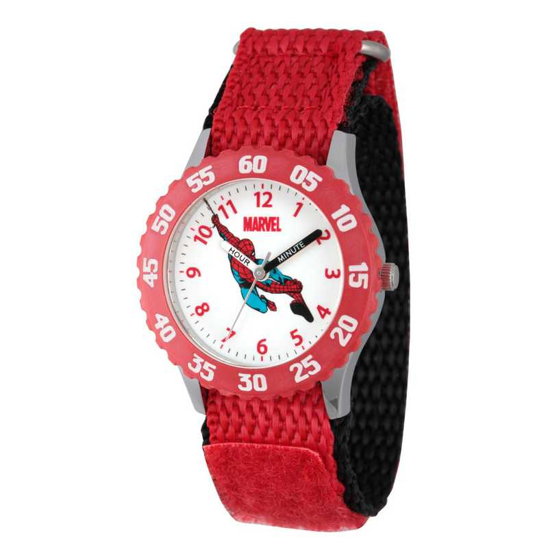 WMA000044: STNLS STL Marvel Boys SpdrM Falling Watch Red Ny Strap