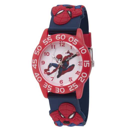 WMA000169: Plstc Marvel Boys SpdrM Flying Web Watch Red/Nvy3D Strp