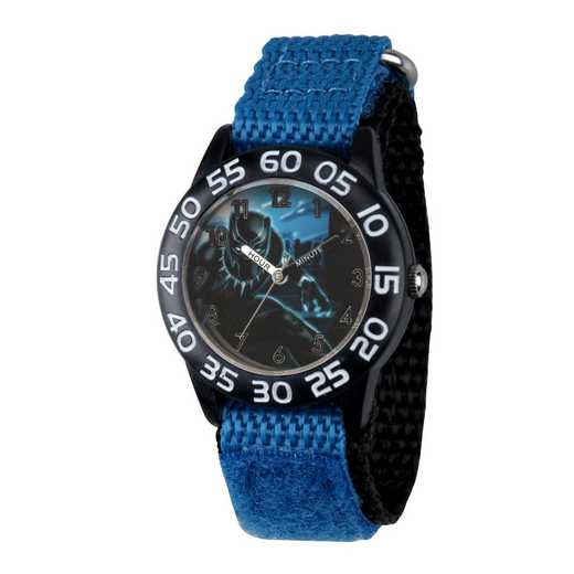 WMA000229: Plastic Marvel Boys BlkPnthr Night Watch Blk/Blu NyStrp