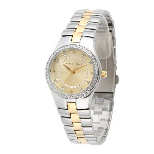 75234-6E-10A: Ladies Personalized Diamond Accent Two Tone Watch