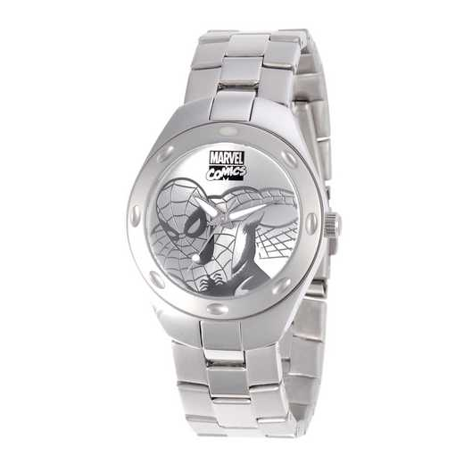 W001054: STN STL SpiderM Men's Silver Fortaleza Watch