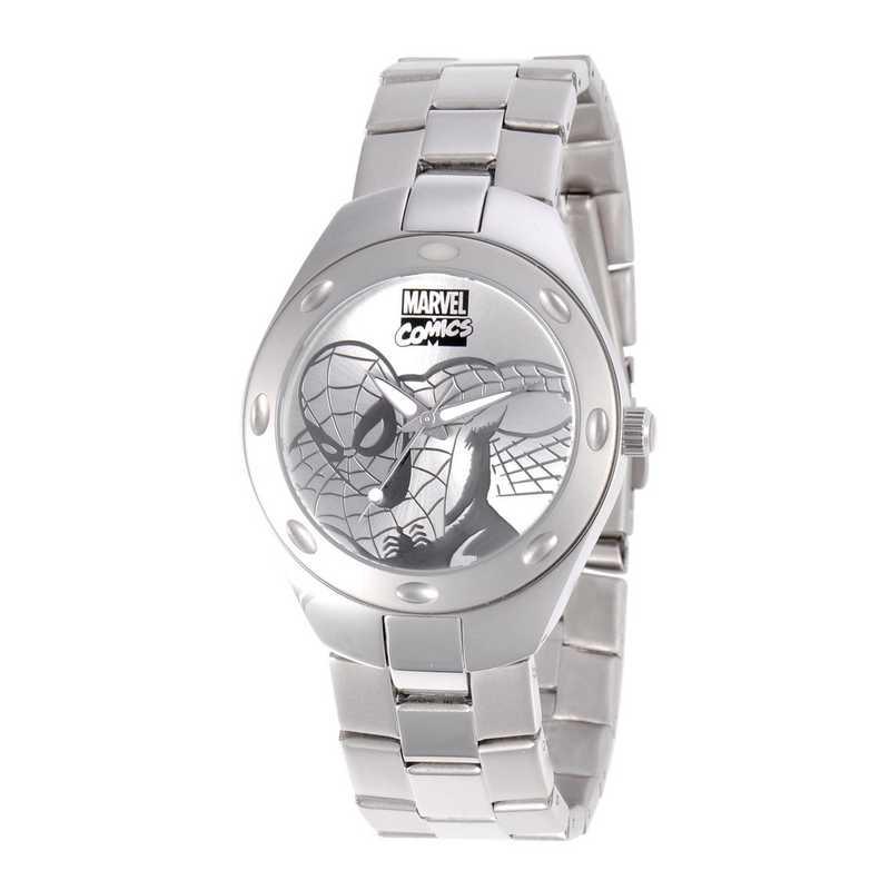 W001054: STN STL SpiderM Men's Silver Fortaleza Watch