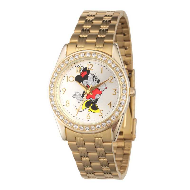W002765: Gold Alloy Womens Glitz Watch Stainless Steel Bracelet