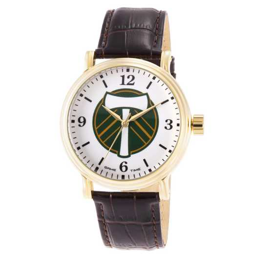 GT000013: Gametime MLS Portland Timbers Men's Shiny Gold Vintage