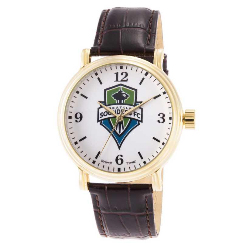 GT000015: Gametime MLS Seattle Sounders FC Men's Shiny Gold Vintage