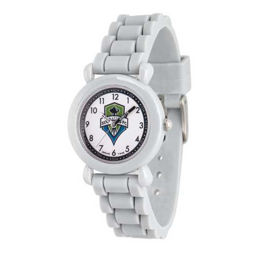 GT000024: Gametime MLS Seattle Sounders FC Kids' Grey Plastic Watch