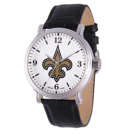 GT000259: Gametime NFL New Orleans Saints Men's Shiny Silver Vintage