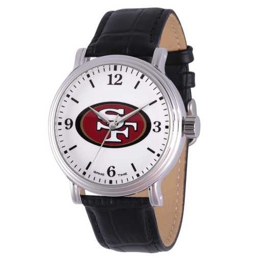GT000273: Gametime NFL San Francisco 49ers Men's Shiny Silver Vintage