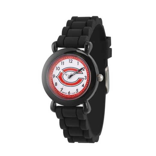 GT000296: Gametime NFL Chicago Bears Kids' Black Plastic Watch