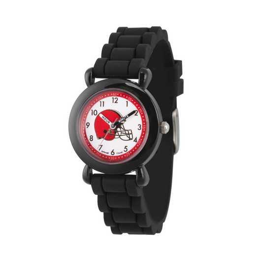 GT000302: Gametime NFL Cleveland Browns Kids' Black Plastic Watch