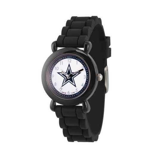 GT000305: Gametime NFL Dallas Cowboys Kids' Black Plastic Watch