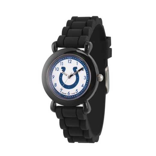 GT000320: Gametime NFL Indianapolis Colts Kids' Black Plastic Watch
