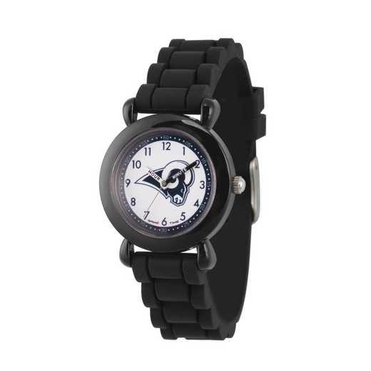 GT000332: Gametime NFL Los Angeles Rams Kids' Black Plastic Watch
