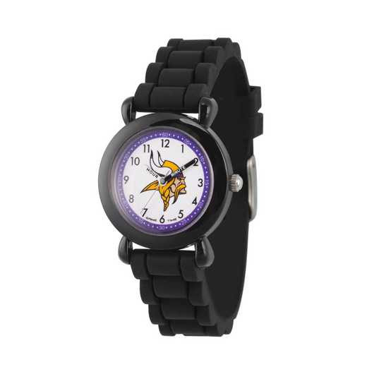 GT000338: Gametime NFL Minnesota Vikings Kids' Black Plastic Watch