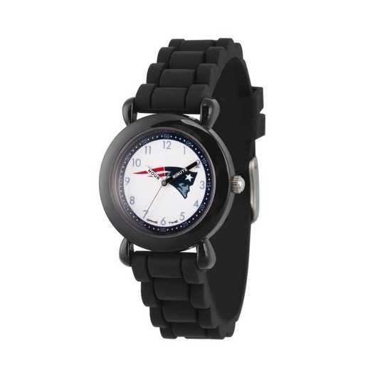 GT000341: Gametime NFL New England Patriots Kids' Black Plastic Watch