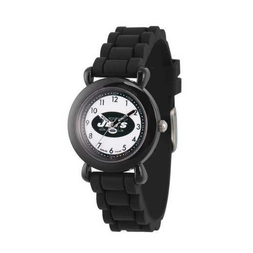 GT000350: Gametime NFL New York Jets Kids' Black Plastic Watch