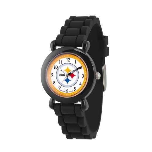 GT000359: Gametime NFL Pittsburgh Steelers Kids' Black Plastic Watch