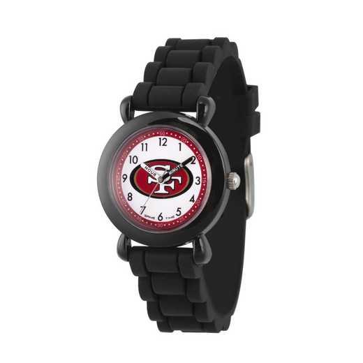 GT000365: Gametime NFL San Francisco 49ers Kids' Black Plastic Watch