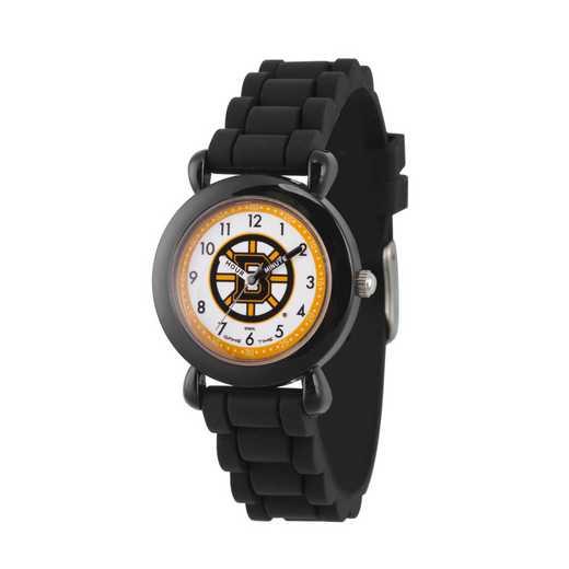GT000396: Gametime NHL Boston Bruins Kids' Black Plastic Watch