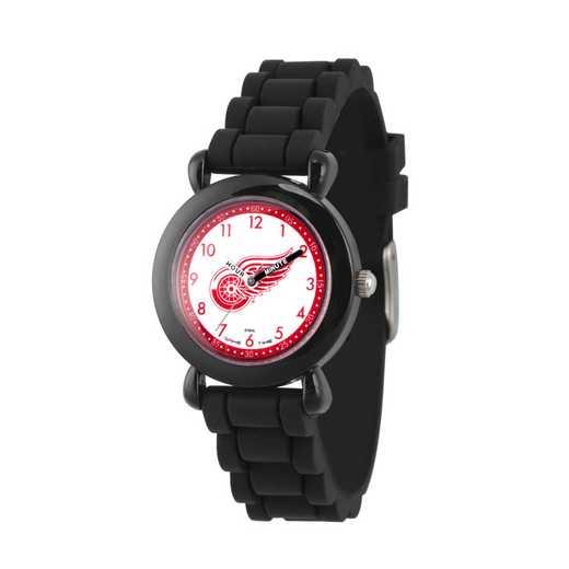 GT000402: Gametime NHL Detroit Red Wings Kids' Black Plastic Watch