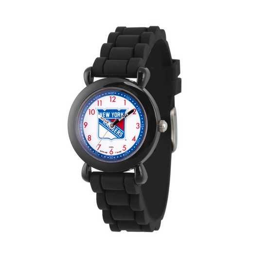 GT000405: Gametime NHL New York Rangers Kids' Black Plastic Watch