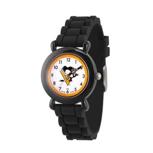 GT000411: Gametime NHL Pittsburgh Penguins Kids' Black Plastic Watch