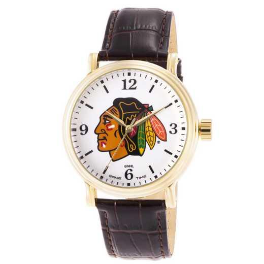 GT000417: Gametime NHL Chicago Blackhawks Men's Shiny Gold Vintage