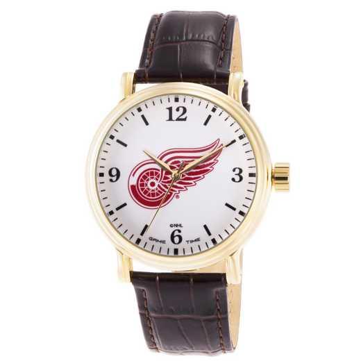 GT000419: Gametime NHL Detroit Red Wings Men's Shiny Gold Vintage