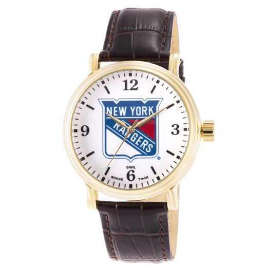 GT000421: Gametime NHL New York Rangers Men's Shiny Gold Vintage