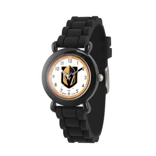 GT000428: Gametime NHL Vegas Golden Knights Kids' Black Plastic Watch