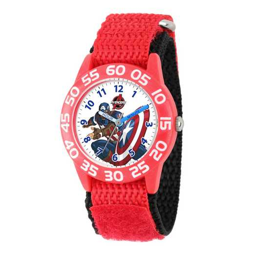 W002601: Plastic Marvel Boys Avenger Assmbl CptAm Watch RedStrap