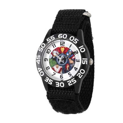W002624: Plastic Marvel Group Boys Watch Black Nylon Strap