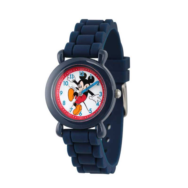 WDS000012: Plastic Disney Boys Skipping Mickey Navy Watch SilStrap
