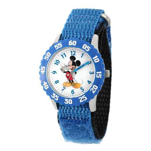 WDS000085: STNLSTL Disney Boys Music Mickey Blu Watch Nylon Strap