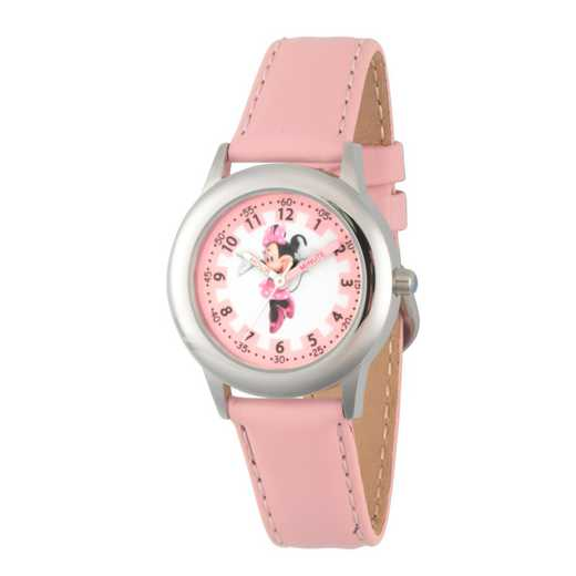 WDS000088: STNLSTL Disney Girls Blushin Minnie Pnk Watch Lea Strap