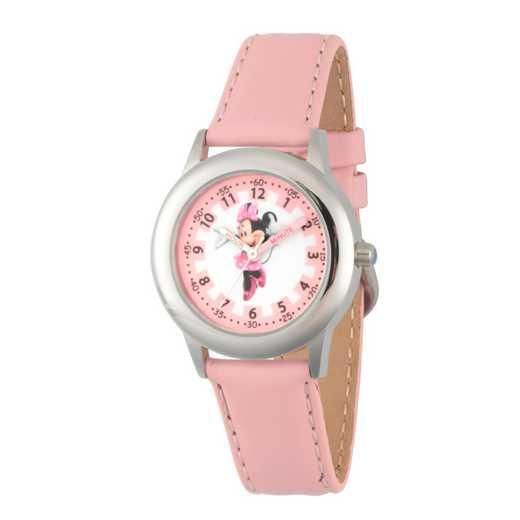 WDS000088: STNLSTL Disney Girls Blushin Minnie Pnk Watch Lea Strap