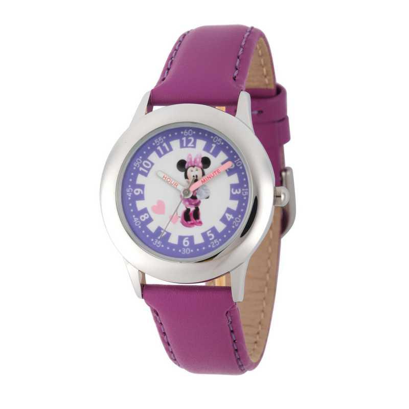 WDS000089: STNLSTL Disney Girls Blushin Minnie Purp Watch LeaStrap