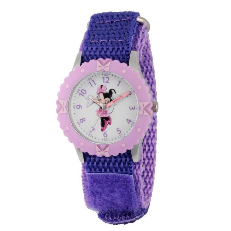 WDS000090: STNLSTL Disney Gir Dance Minnie Purp Watch Nylon Strap