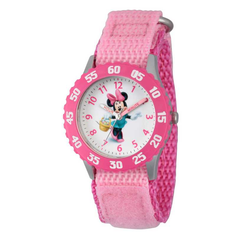 WDS000094: STNLSTL Disney Girls Skipping Minnie Pnk Watch Ny Stap