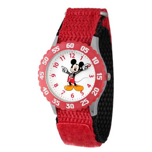 WDS000098: STNLSTL Disney Boys Pointing Mickey Red Watch Ny Strap