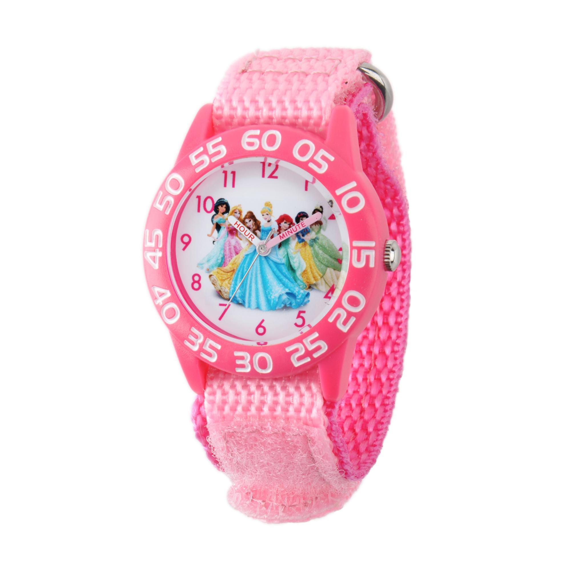 girls' disney princess jasmine-rapunzel-belle-cinderella-ariel-snow white & tiana watch
