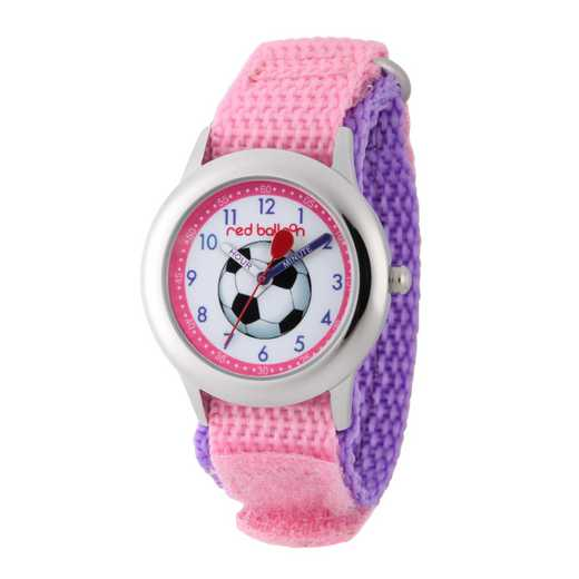 WRB000039: SSTN Red Balloon Girls Soccer Nylon Pink/Purple Watch