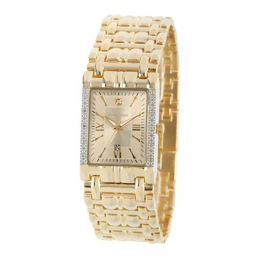50888-5: Men's Personalized Diamond Accent Gold Tone Watch