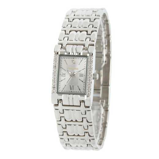 50889-7: Ladies Personalized Diamond Accent Silver Tone Watch