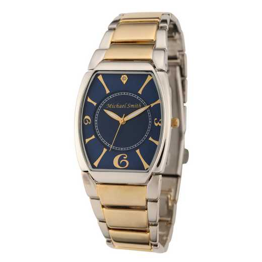 61572-C: Men's Personalized Diamond Accent Two Tone Link Watch