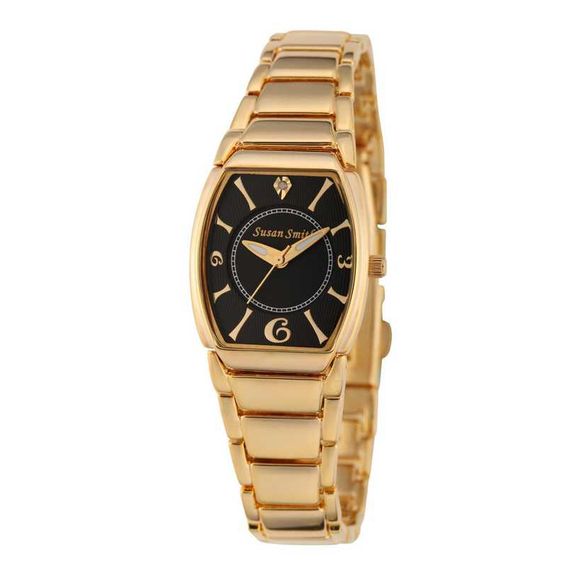 61573-A: Ladie's Personalized Diamond Accent Gold Tone Link Watch