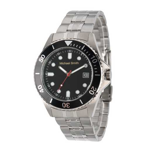 62928-A: Men's Personalized Silver Tone Watch