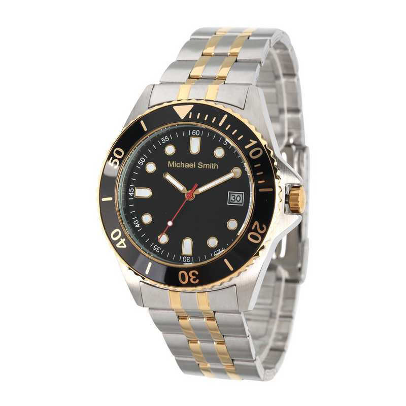 62928-D: Men's Personalized Two Tone Watch