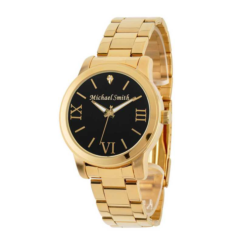 69807-A: Men's Personalized Diamond Accent Gold Tone Watch